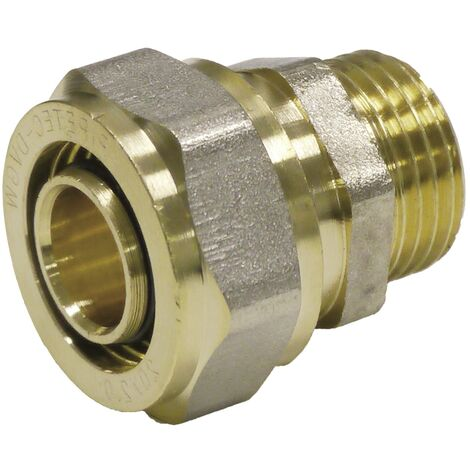 "main image of ""Pipetec Schraubfitting Übergang Kupplung 16x2 mm 1/2 Zoll AG Verbundrohr"""