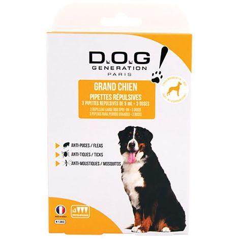 Pipettes Répulsives Dog Génération Grand Chien