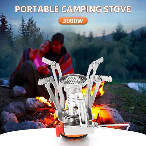 Pique-nique exterieur barbecue portable gril mini bruleur integre de camping
