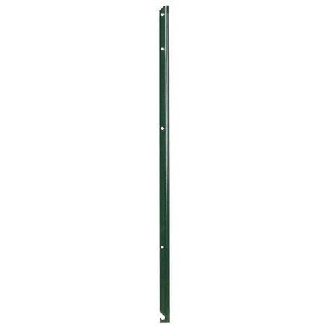 Piquet de clôture simple en T plastifié vert Filiac