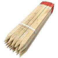 piquet d'implantation de chantier en bois avec bout rouge hauteur 0,75 ml (paquet de 20 pièces)