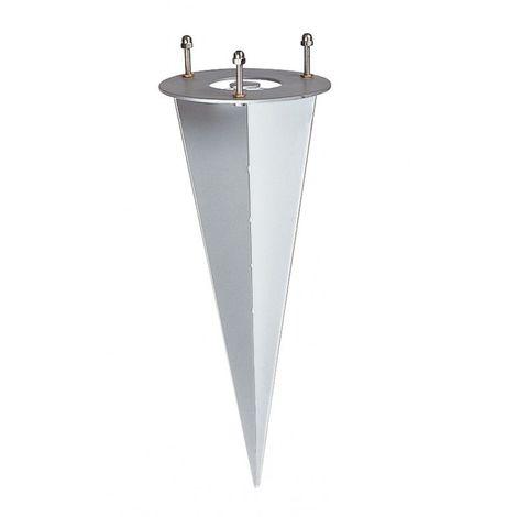 Piquet pour luminaires de jardin, acier zingué - Aluminium