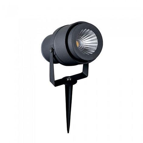 Piqueta de jardín LED Serie Modern 12W 30° IP65 Negro
