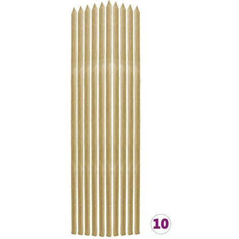 Piquets de plantes 10 pcs 2,8x2,8x150 cm Pin imprégné