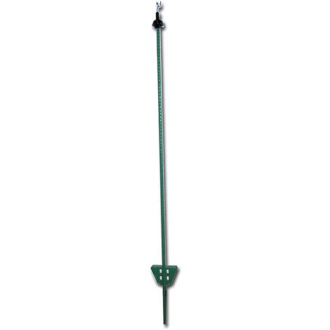 Piquets en fer vert de 1,05 m de haut pour clôtures électrifiées paquet de 25 pièces