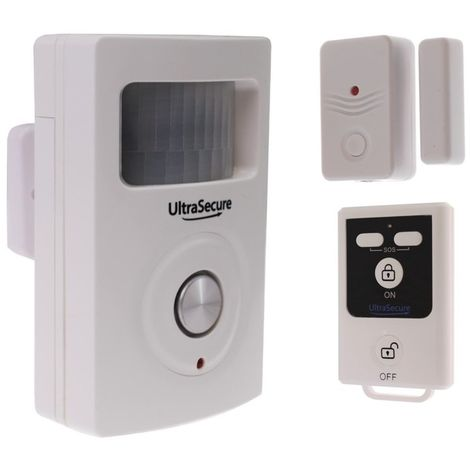 PIR & Door Contact Alarm (BT PIR Alarm with Magnetic Contact Alarm & Remote Control) [007-1050]