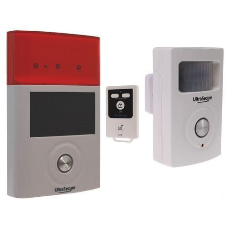 PIR & Solar Siren (BT Wireless Battery PIR & External Solar Siren Wireless Alarm). [007-0311]