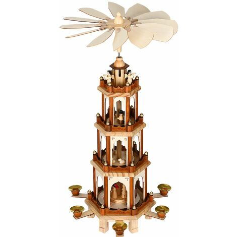 Pirámide de Navidad XL de madera blanca