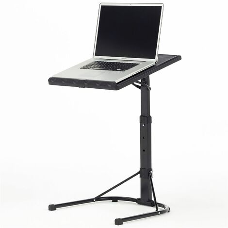 Piranha Portable Laptop Table Stand Height Adjustable Livingroom Black PC48g - Black