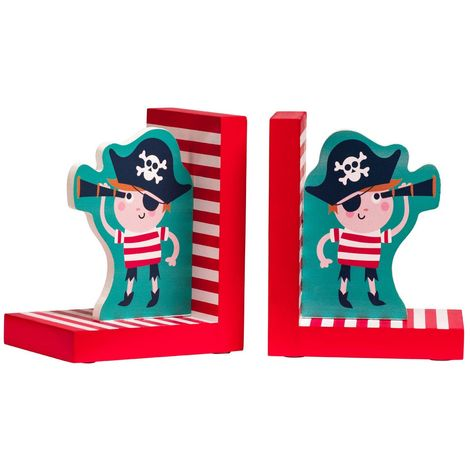 Pirate Set of 2 Bookends,MDF