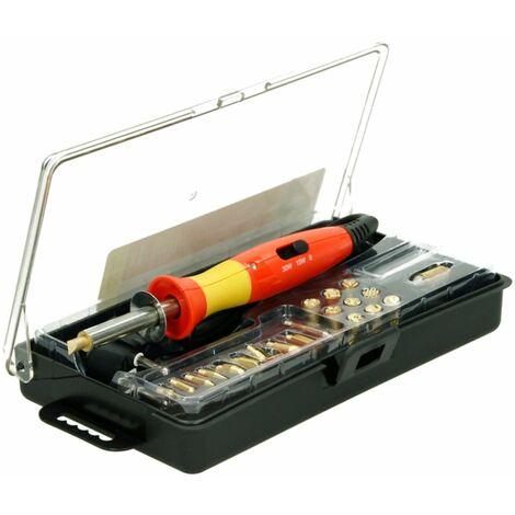 Pirograbador eléctrico pirógrafo aparato grabador madera termograbador set 24 pz