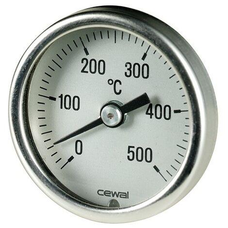 Pirometro Termometro 0-500° bimetallico per forno camino barbecue 91634103 cewal