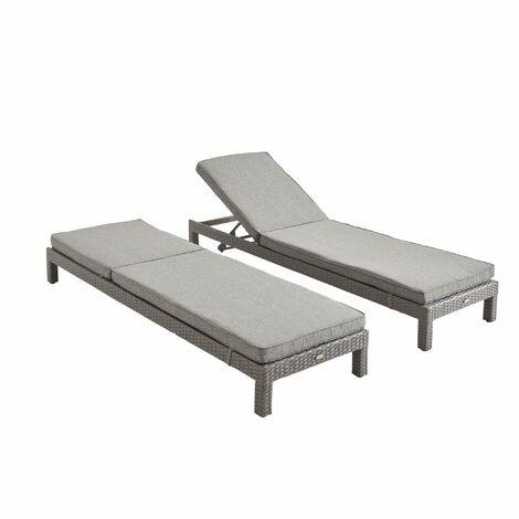 "main image of ""Set of 2 rattan sun loungers - Pisa"""
