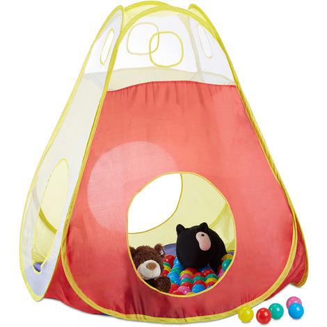 Piscina Con 100 Palline Colorate Tenda Pop Up Per Bambini Da 3 Anni