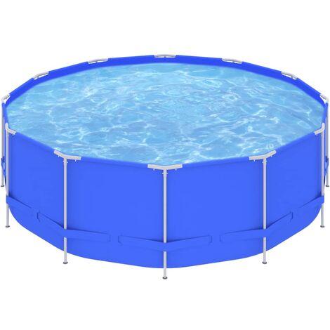 "main image of ""Piscina con estructura de acero azul 457x122 cm"""