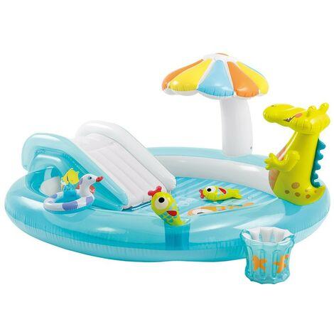 Piscina Con Scivolo Alligatore Per Bambini Intex Gonfiabile