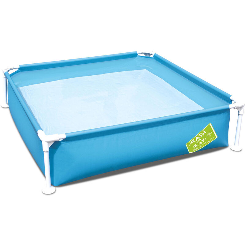 Piscina cuadrada Melville 122x122x30,5cm, piscina infantil, piscina pequeña - Azul