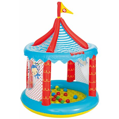 Piscina de Bolas Hinchable Bestway Fisher Price Circo Ø104x137 cm