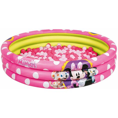 Piscina de Bolas Hinchable Bestway Minnie Mouse Ø122x25 cm