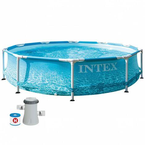 Piscina desmontable con depuradora 1250 l/h Metal Frame Beachside INTEX