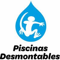 Piscina desmontable redonda decorada modelo muro