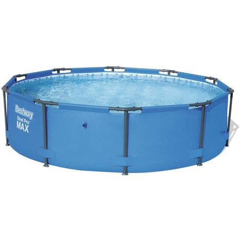 Piscina tubular Steel redonda de Bestway 305 X 100cm Azul con Depuradora