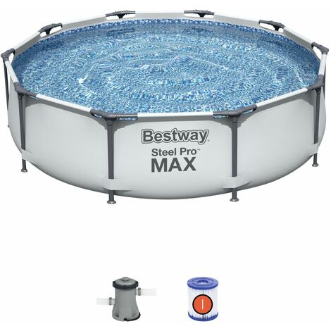 Piscina Desmontable Tubular Bestway Steel Pro Max 305x76 cm con Depuradora Cartucho 1.249 L/H