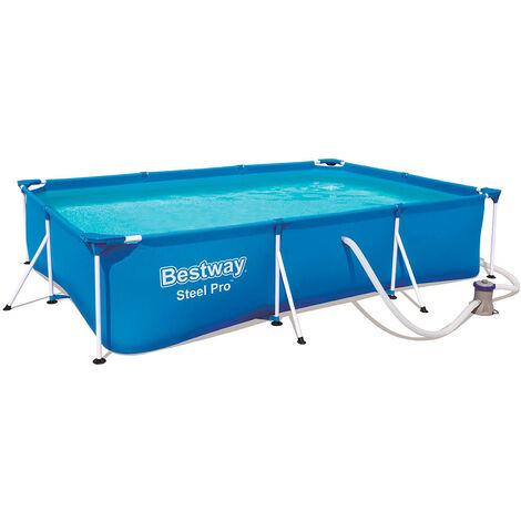 Piscina Desmontable Tubular Infantil Bestway Deluxe Splash Frame Pool 300x201x66 cm - 56411 - BESTWAY