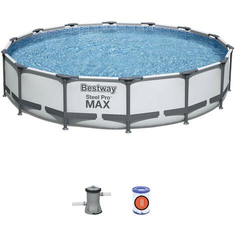 Piscina Elevada desmontable Bestway 56595 Round Steel Pro Max 427x84cm