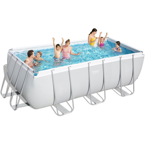 Piscina elevada desmontable Rectangular Bestway 56456 Power Steel 412x201x122 cm
