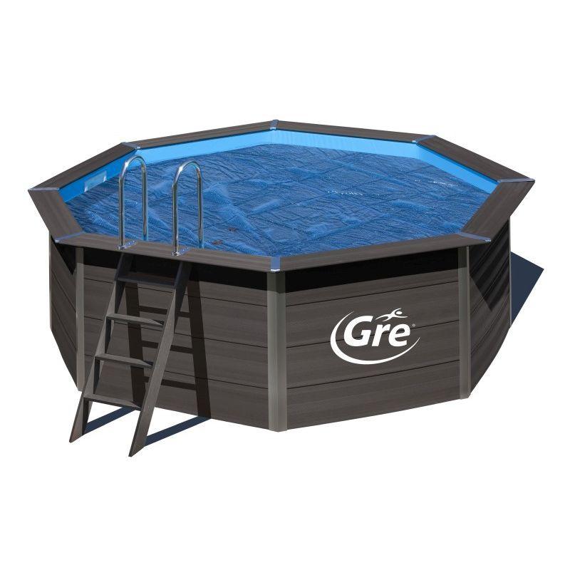 GRÉ - Cubiertas de Verano para Piscinas de Composite Gre Elige la medida de tu piscina:Ovalada - 804x386 cm CVKPCO80
