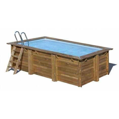 Piscina da giardino in legno marbella 400 x 250 cm 790096 for Piscine da giardino