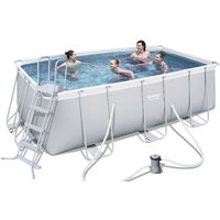piscina fuoriterra 412x201x122cm con motore e scaletta 56456 bestway
