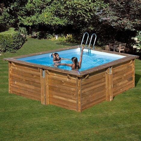 Piscina Gre Cuadrada De Madera Sunbay Pool Carra 788455E 3 Mts X 3 Mts X 1.19 Mts De Alto