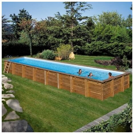 Piscina Gre Rectangular De Madera Sumbay Pool