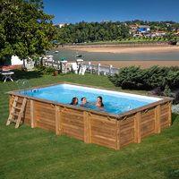 Piscina Gre Rectangular De Madera Sumbay Pool