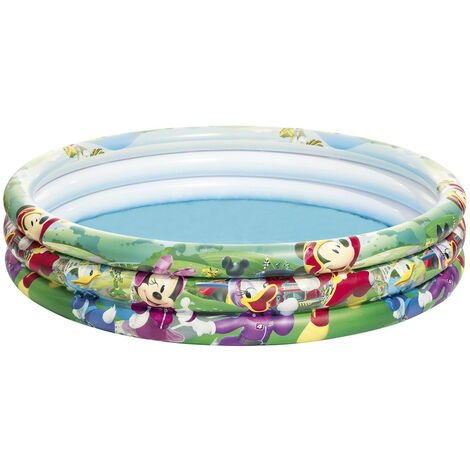 Piscina Hinchable Infantil Bestway Mickey and the Roadster Racers 122x25 cm