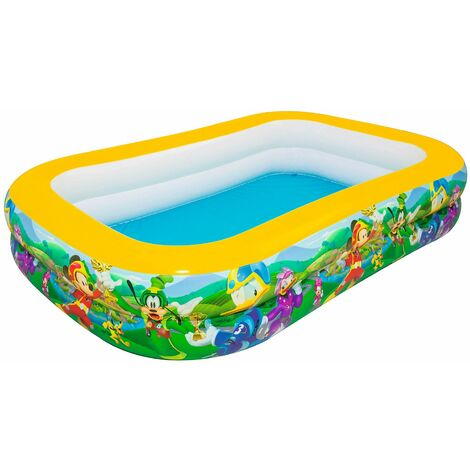 Piscina Hinchable Infantil Bestway Mickey and the Roadster Racers Family 262x175x51 cm