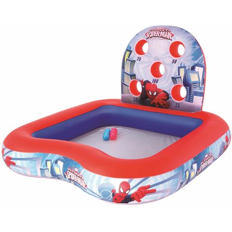 Piscina Hinchable Infantil de Juegos Bestway Spiderman 155x155x99 cm