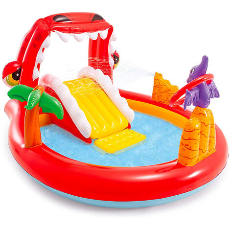 Piscina Hinchable Infantil Intex 57163 niños Happy Dino Play Center Juego