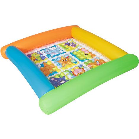 Piscina hinchable infantil multicolor de PVC de 23x132x132 cm
