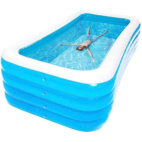 Piscina Hinchable Infantil piscina infantil /piscina familiar Blue Rectangular 180x125x72cm
