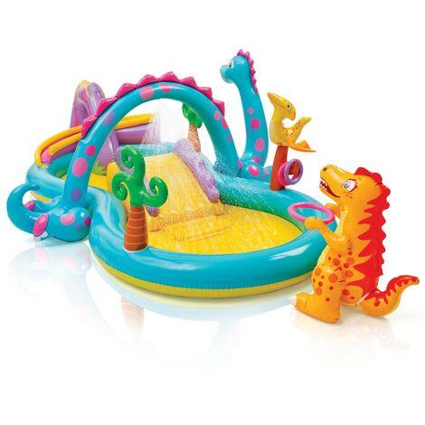 Piscina hinchable para niños Intex 57135 Dinoland Play Center juego