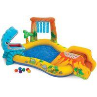 Piscina hinchable para niños Intex 57444 Dinosaur Play Center juego
