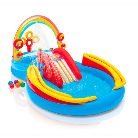 Piscina hinchable para niños Intex 57453 Arco Iris Rainbow Ring juguete