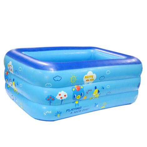 Piscina hinchable rectangular para niños 1.2m