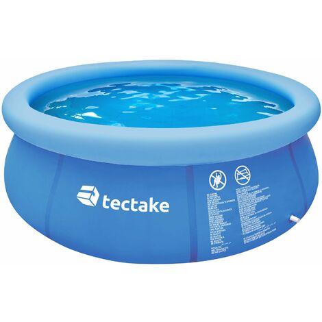 Piscina hinchable redonda Ø 240 x 63 cm - piscina portátil inflable estable, piscina para jardín con desagüe rápido, piscina particular desmontable - azul