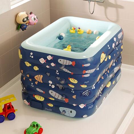Piscina inflable para niños, piscina infantil de PVC, bañera, piscina de jardín, inflado automático inalámbrico 120cm Rosa
