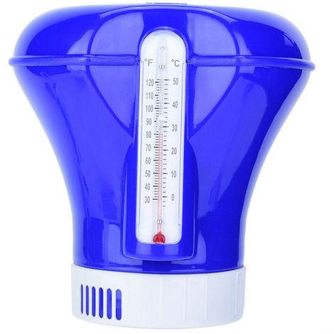 Piscina quimica dispensador, con termometro