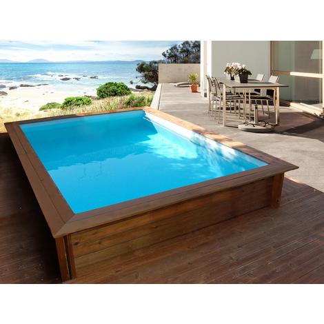 Piscina rectangular de madera TOLEDO - 3.00 x 2.00 x 0.71 m